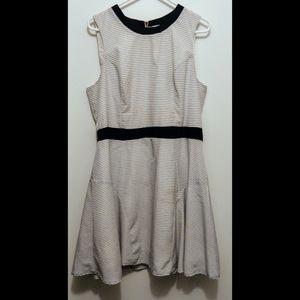 Mossimo Pinstriped Black/White Dress